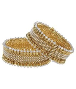 Gold Plated Pearl Bracelets Bangles